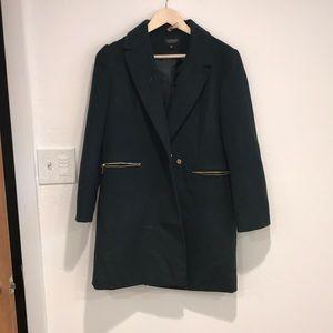 Emerald green top shop coat